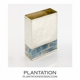 Lerma Onyx & Silver Vases | Rectangle