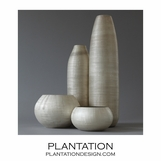Moonstone Etched Vases Set | Narrow