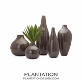 Renaissance Wood Vases | Grey