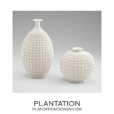 Lattice Ceramic Vases