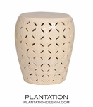 Trellis Ceramic Stools | Off-White