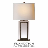 Piazza Crystal Table Lamp | Rustic Nickel