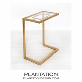 Brandon Side Table | Gold
