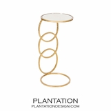 Rosie Side Table | Gold