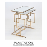 Kaplan Nesting Tables | Gold
