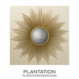 Majestic Sunburst Large Mirror | Brass