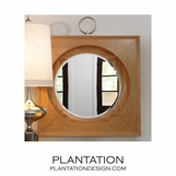 Port Mirror | Light Oak