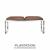 Banquette Chrome Bench