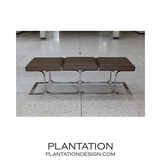 Traveler Leather Bench | Brown