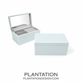 Lacquer Jewelry Box | Icy Blue
