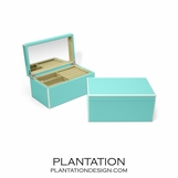 Lacquer Jewelry Box | Turquoise