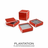 Lacquer Stacked Jewelry Box | Bright Red
