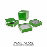 Lacquer Stacked Jewelry Box | Kelly Green