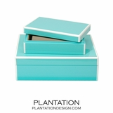 Lacquer Storage Boxes Set | Turquoise