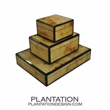 Lacquered Boxes | Mappa Burl