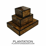 Lacquered Boxes | Walnut Burl