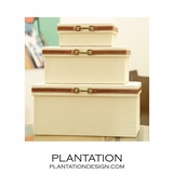 Nettles Canvas Boxes | Set of 3