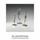 Seahorse Standing Statues Set