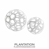 Kam Sphere Sculptures | White