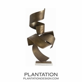 Pappardelle Brass Sculpture
