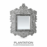 Cutout Capiz Mirror | Grey