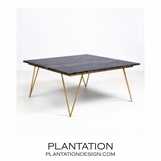 Harris Coffee Table | Gold Leaf & Black Marble