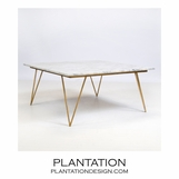 Harris Coffee Table | Gold Leaf & White Marble