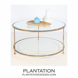 Rotund Coffee Table | Gold
