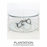 Rotund Coffee Table | Nickel