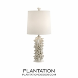 Barnacles Porcelain Lamp | White