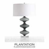 Pippa Grey Glass Lamp