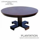 Contemporary Pedestal Dining Table