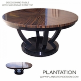 Deco Macassar Dining Table