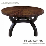 Spyder Round Dining Table | Macassar