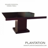 Square Pedestal Dining Table