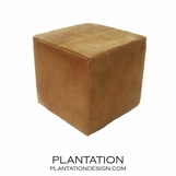 Chao Cowhide Stool | Beige