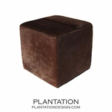 Chao Cowhide Stool | Chocolate
