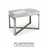 Rodeo Hide Stool | Grey