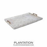 Ivoire Bone Tray | Brass