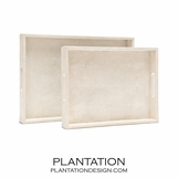"Orion ""Shagreen"" Trays Set 