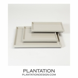 Ming Shallow Trays | Light Grey