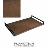 Cebu Ostrich Leather Tray | Mink