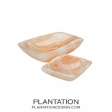 Heavenly Selenite Tray | Peach