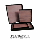 Lacquered Trays | Plum Tulipwood