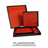 Lacquered Trays | Red Tulipwood