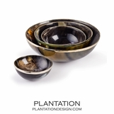 Yearling Horn Bowls Set