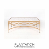 Chastity Coffee Table | Gold Leaf