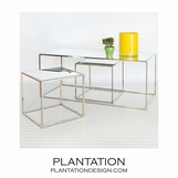 Tribeca Nickel Coffee Table Set