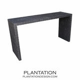 Waterfall Faux Gator Console
