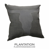 Longhorn Linen Pillows | Grey